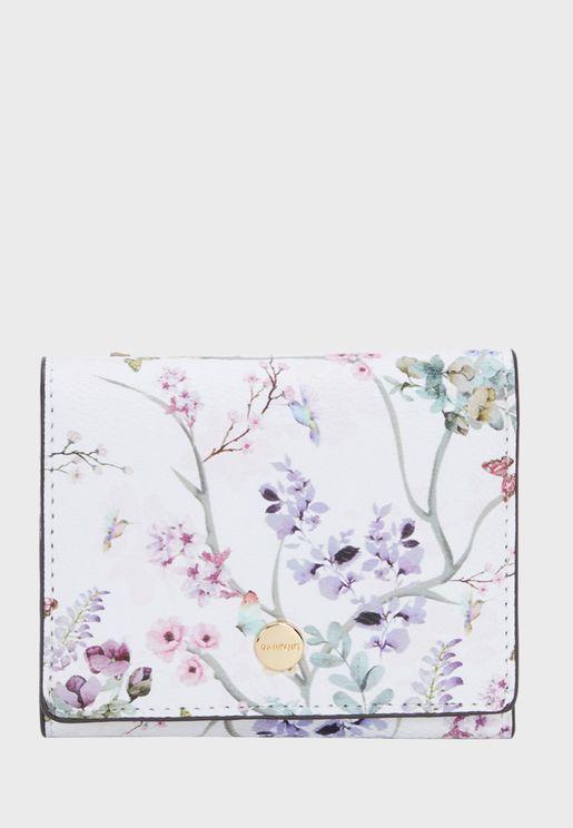 Lavanda 1 Floral Print Clutch