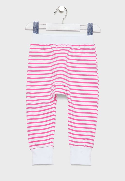 Infant Striped Sweatpants