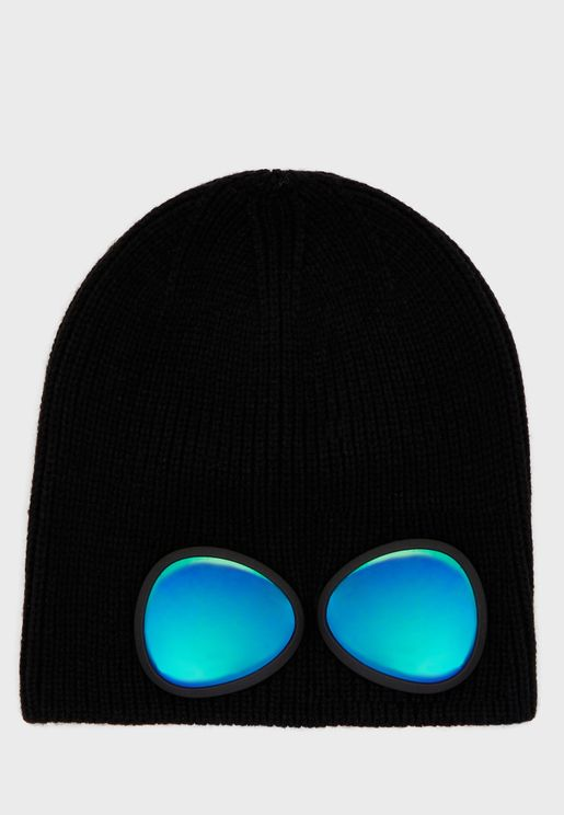 Kids Knitted Beanie With Glasses