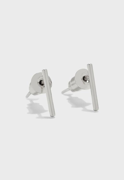Fine Bar Stud Earrings