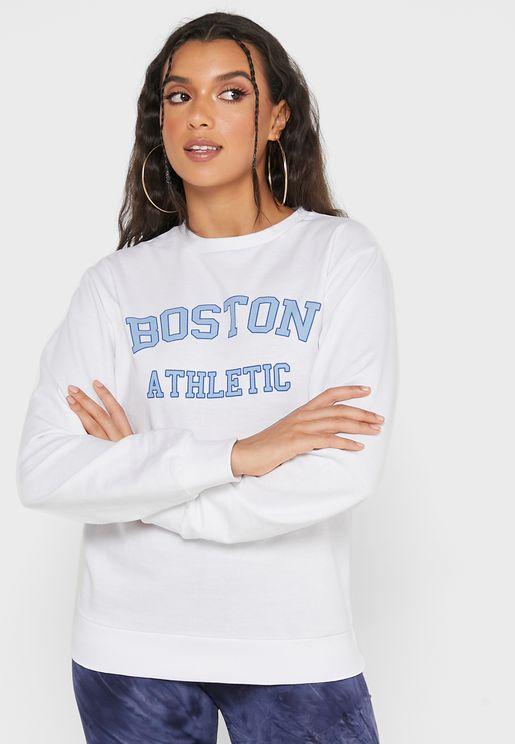 Sweatshirt With Front Print