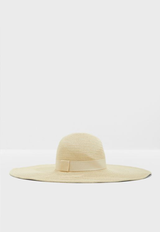 Wide Paper Straw hat