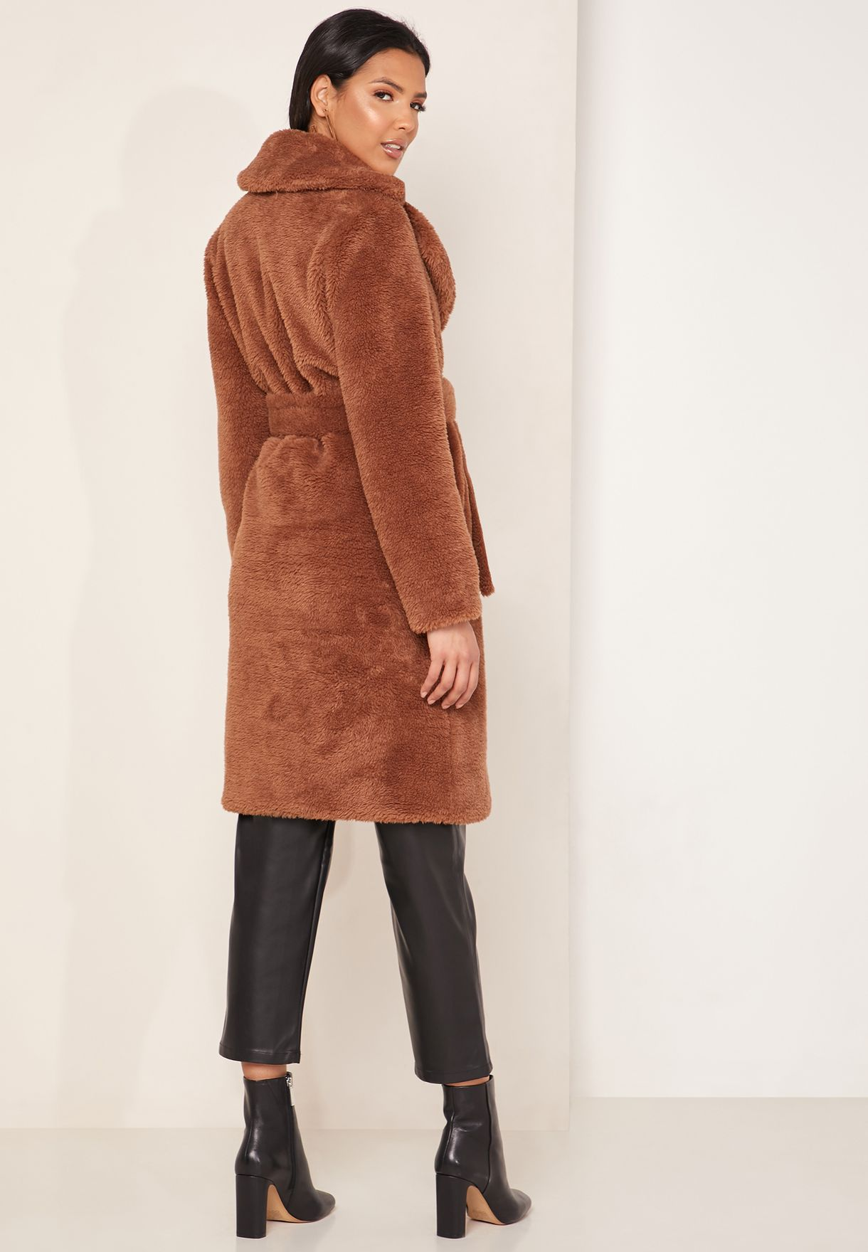 Lalla Belted Teddy Coat