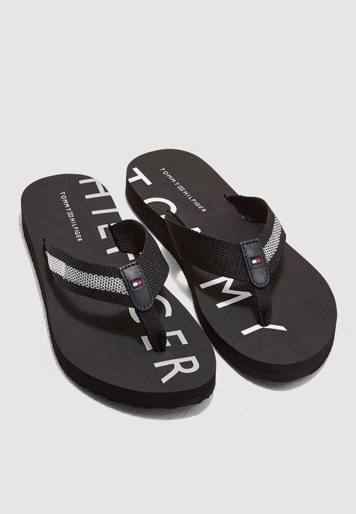 6589a437d292 Flat Beach Sandal. PREMIUM. Tommy Hilfiger