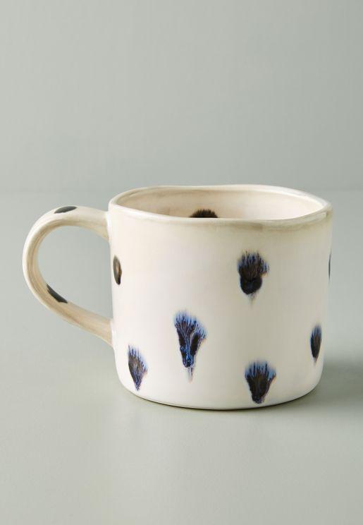 Peeping Dog Print Mug