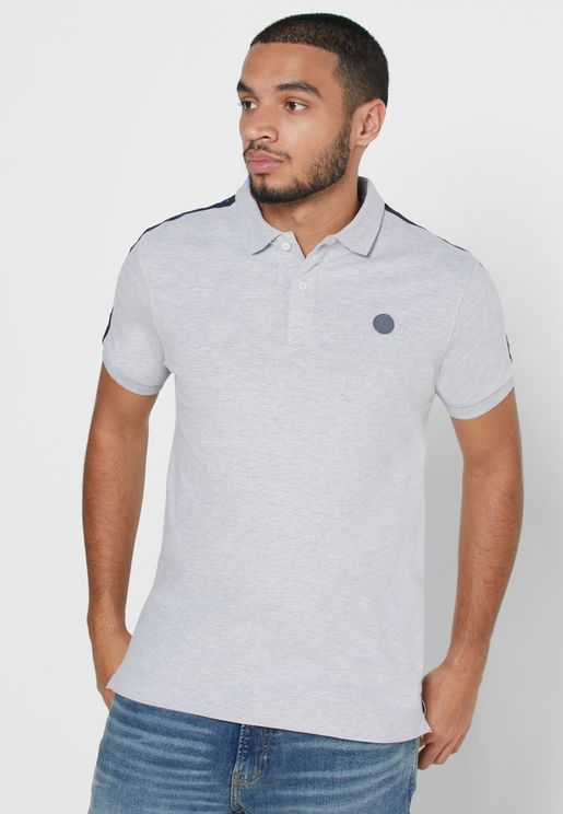 Shoulder Stripe Polo
