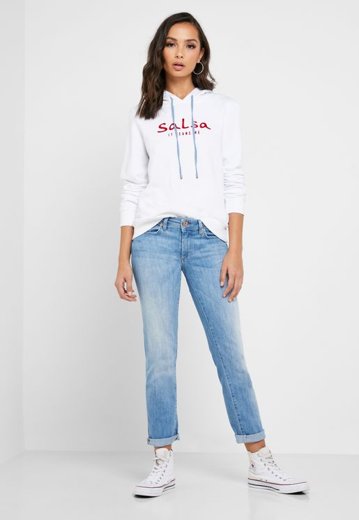 Low Rise Ankle Grazer Jeans