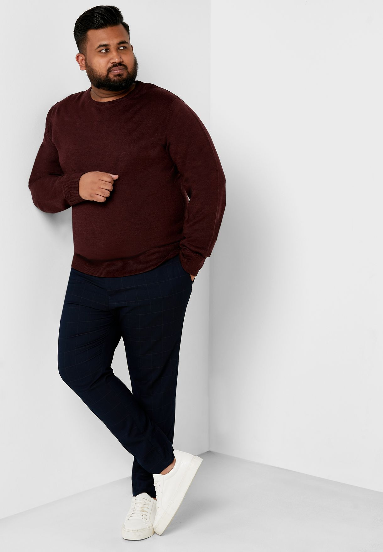 Plus Size Crew Neck Knitwear