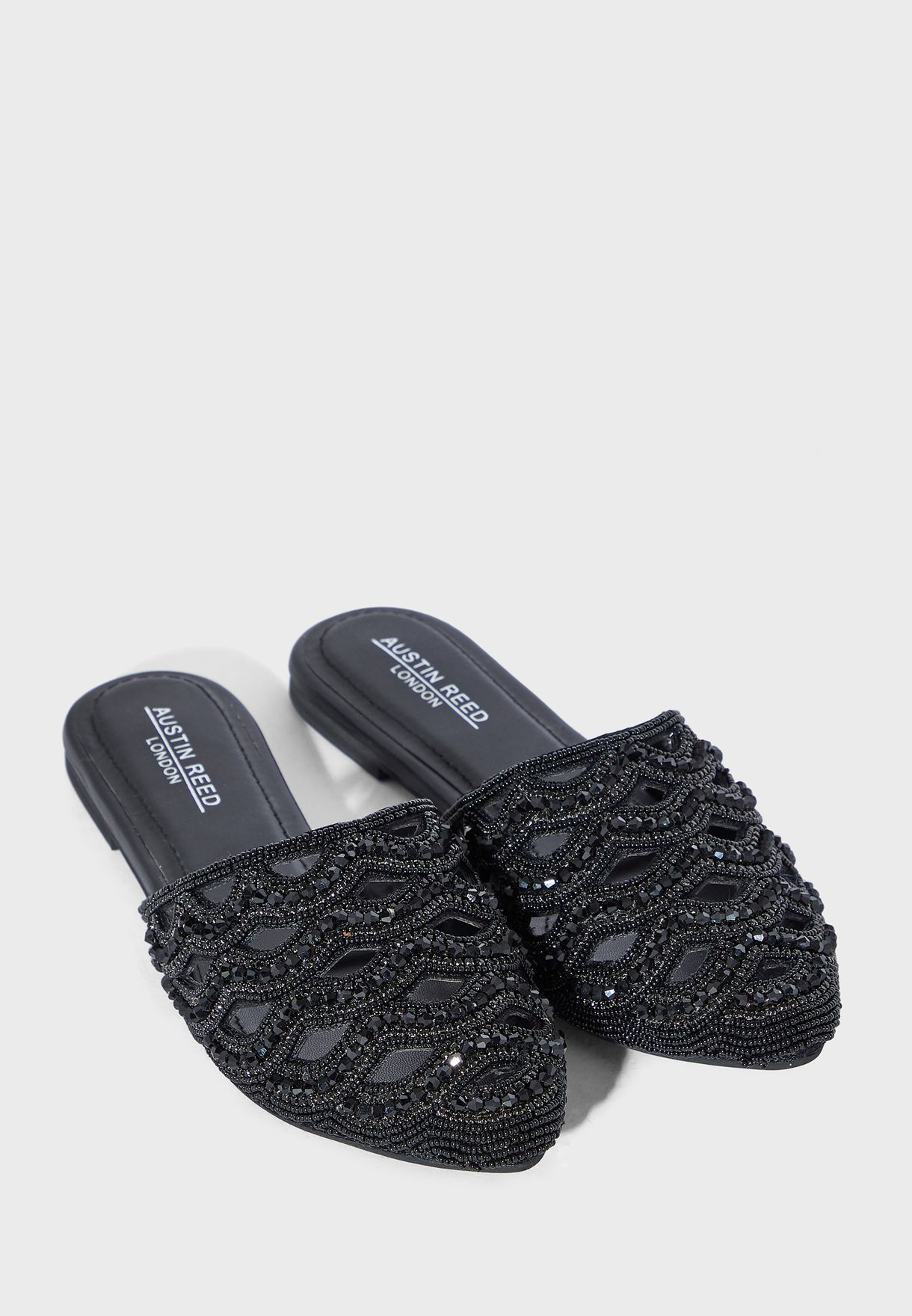 Buy Austin Reed Black Embellished Slip On For Women In Mena Worldwide Aulfs55dff