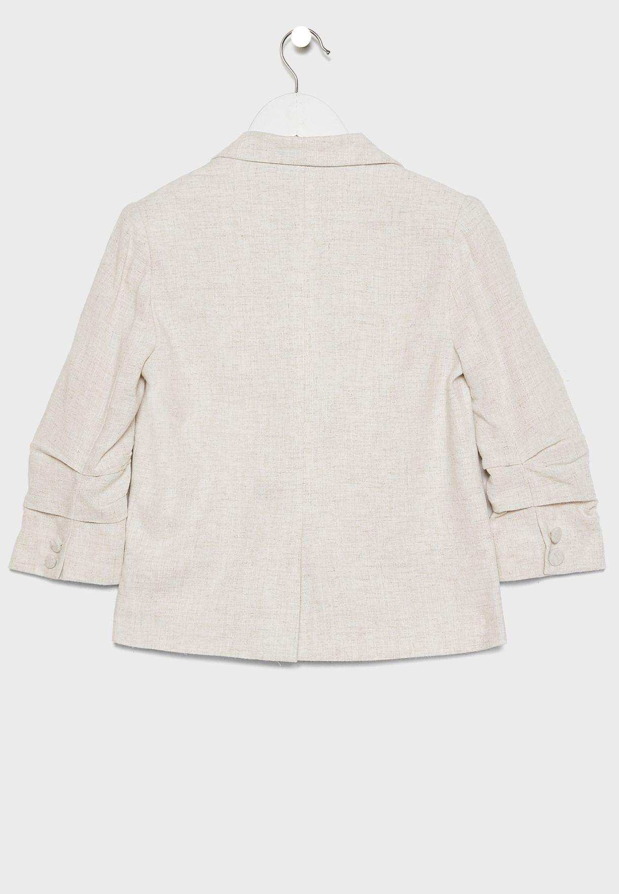Teen Tuck Sleeve Blazer