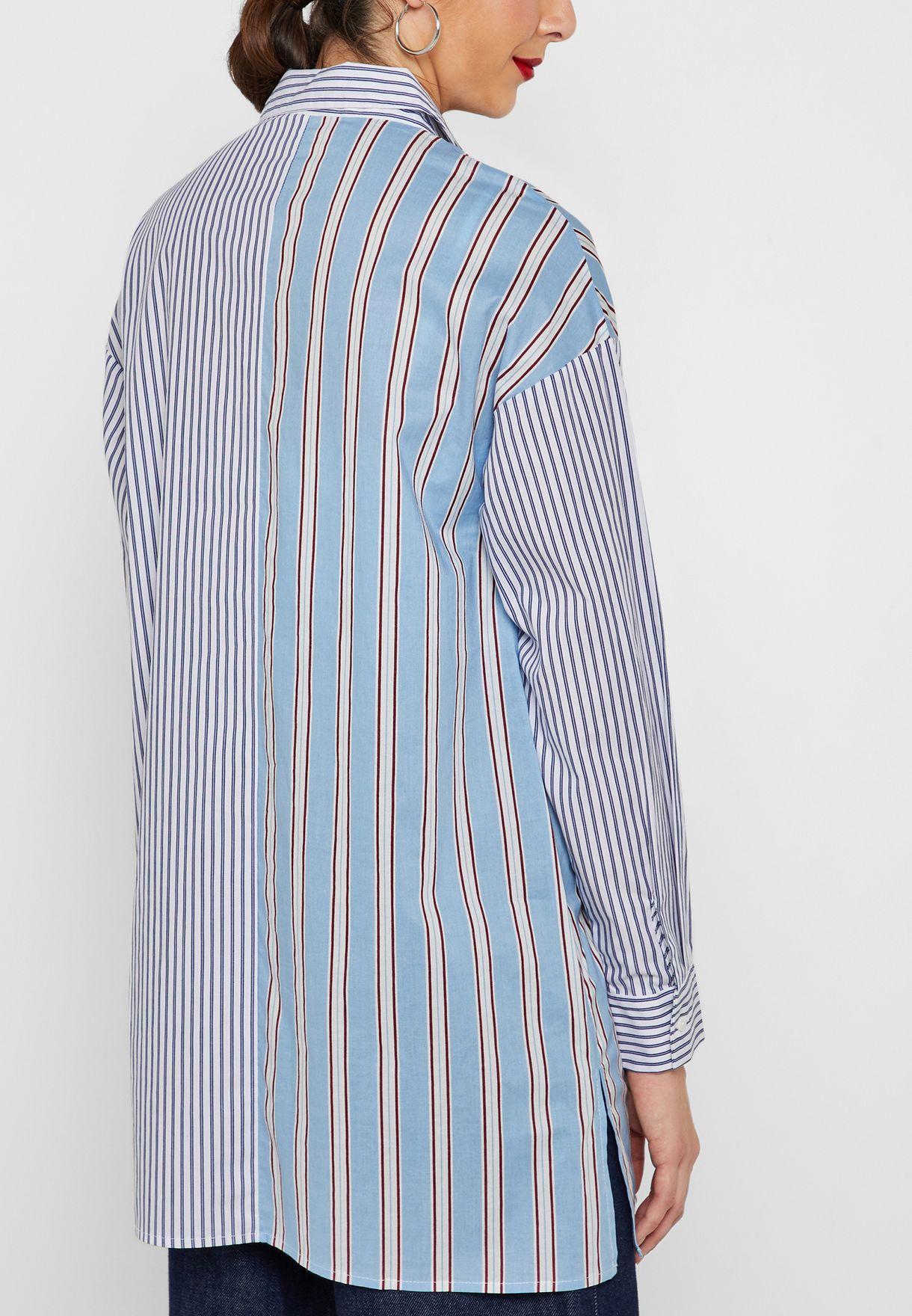قميص طويل بخطوط