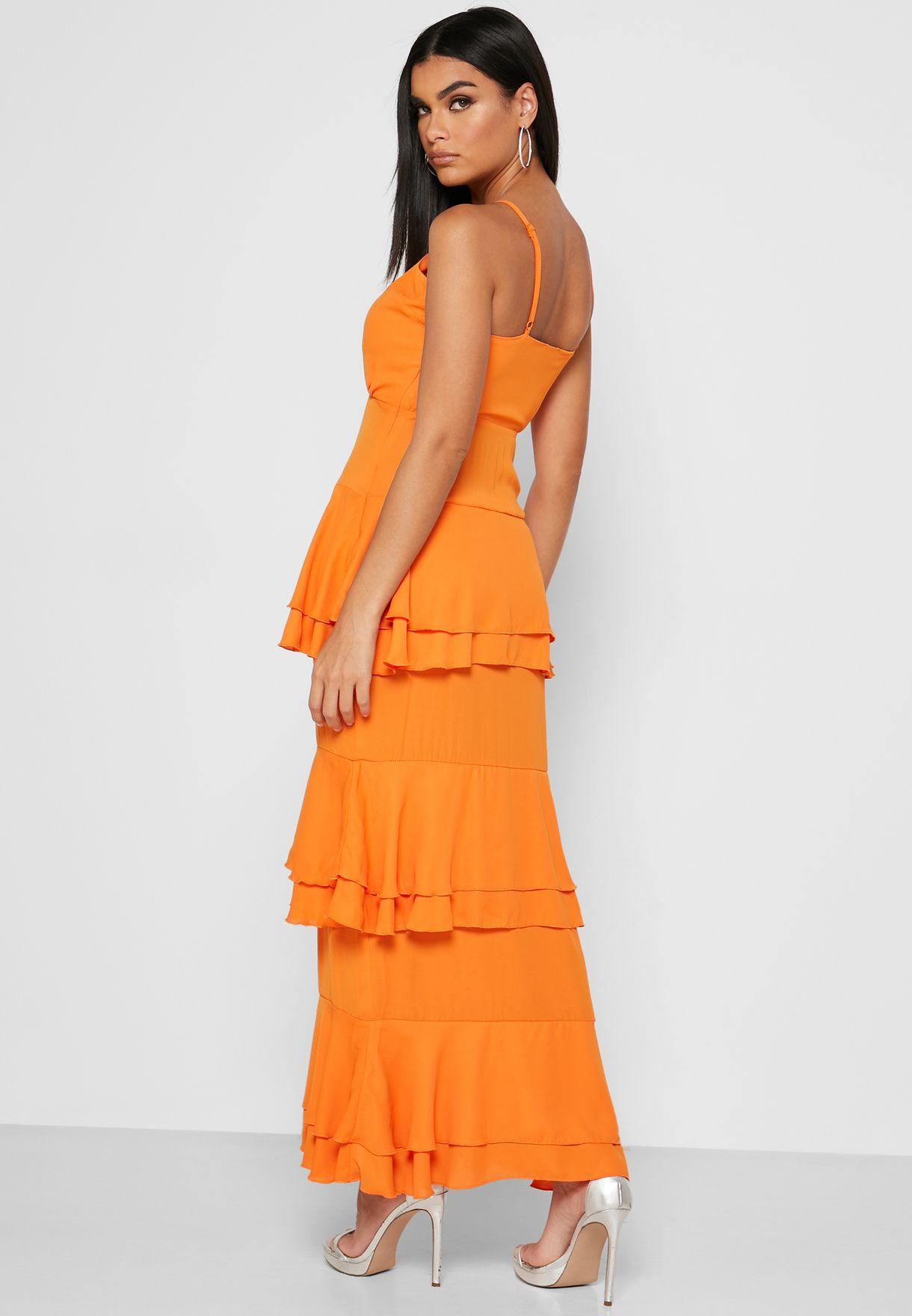 Cami Strap Layered Plunge Dress