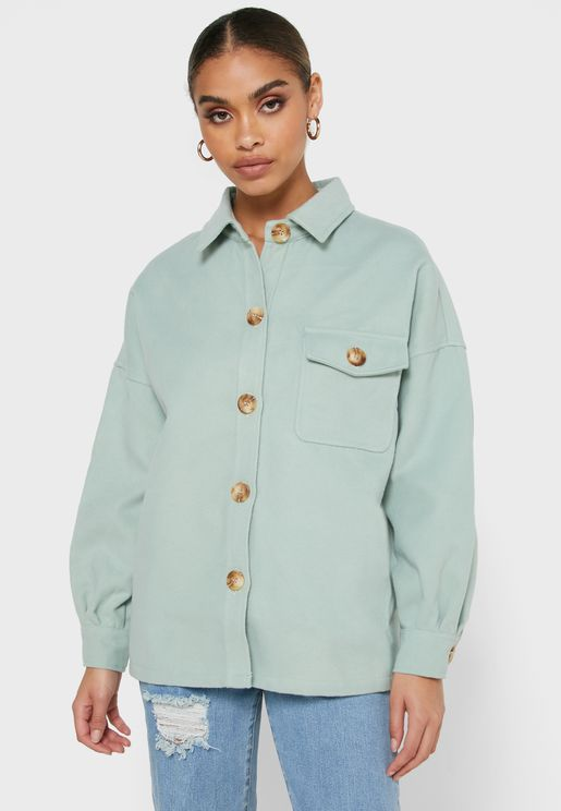 Button Down Shacket