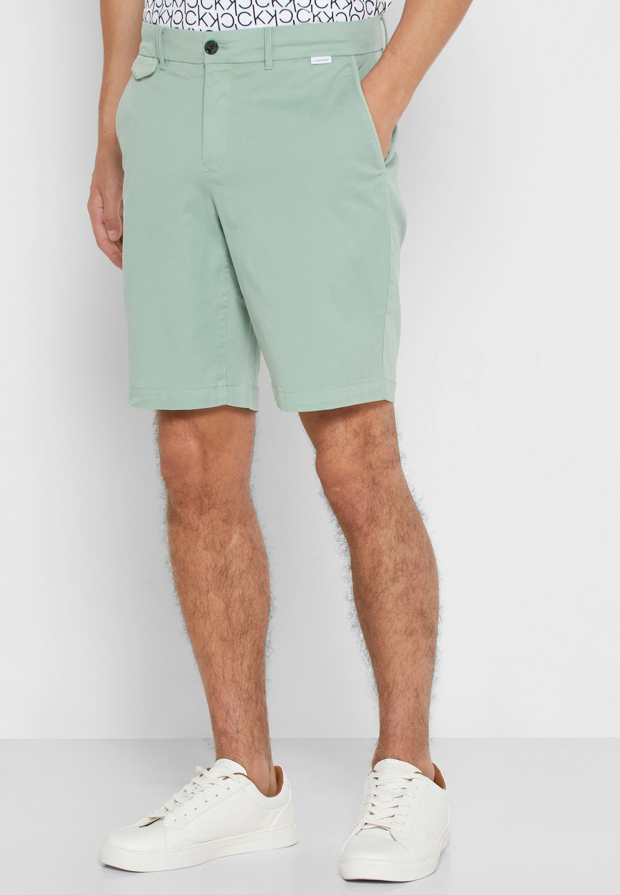 Dyed Slim Fit Shorts