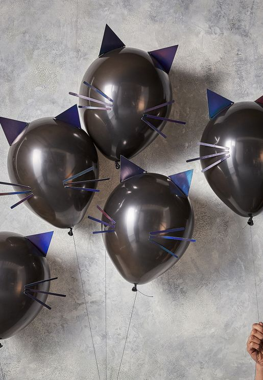Cat Face Balloons 9 Pack