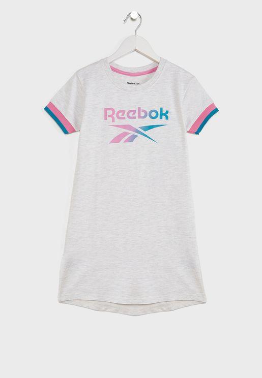 Youth Logo Ribbed Dress