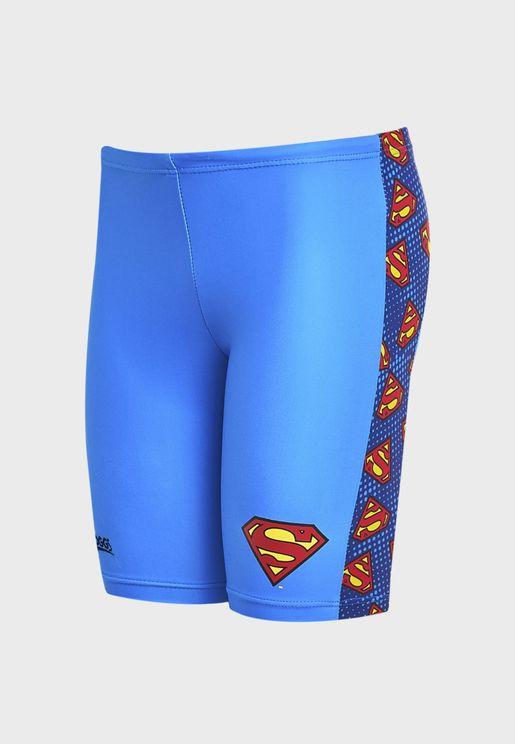 Kids Superman Pogo Swimming Shorts