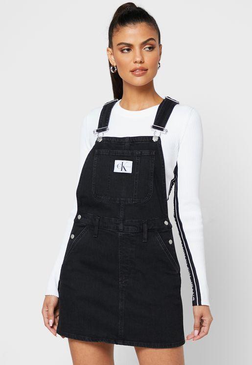 فستان جينز بجيوب جانبية