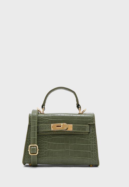 Croc Mini Satchel Handbag