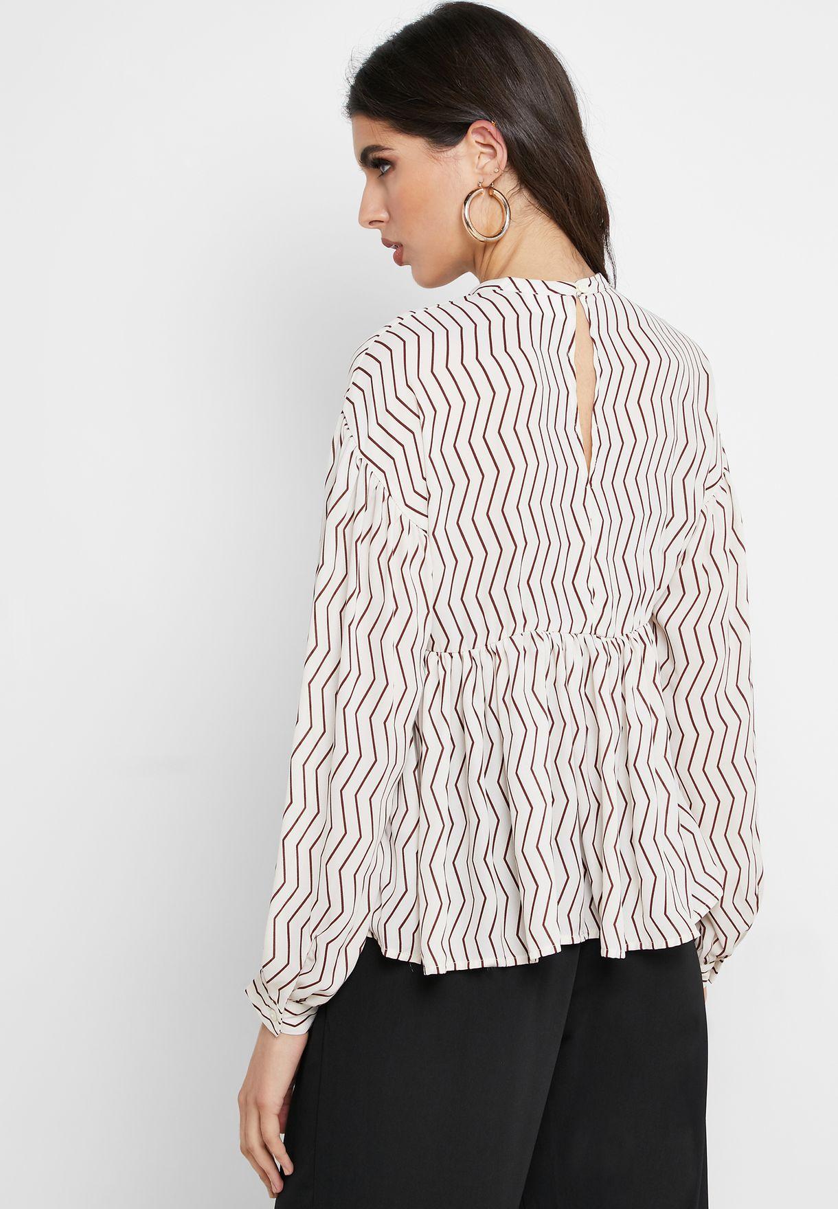 Printed Long Sleeve Top