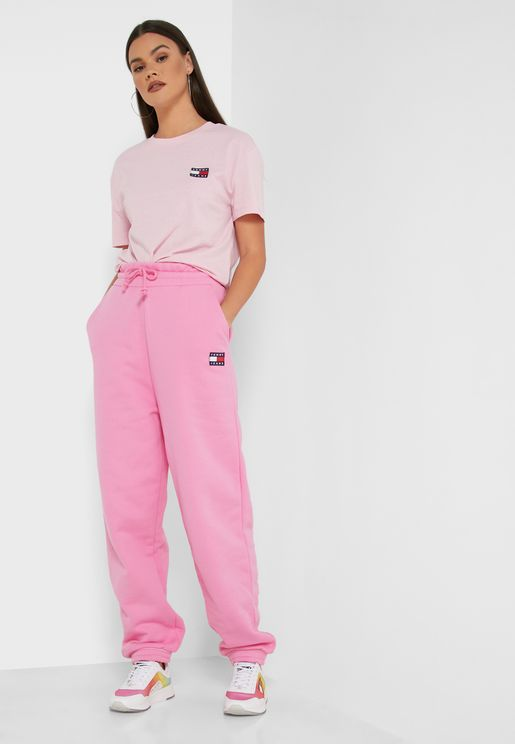 Logo Badge Cuffed Sweatpants