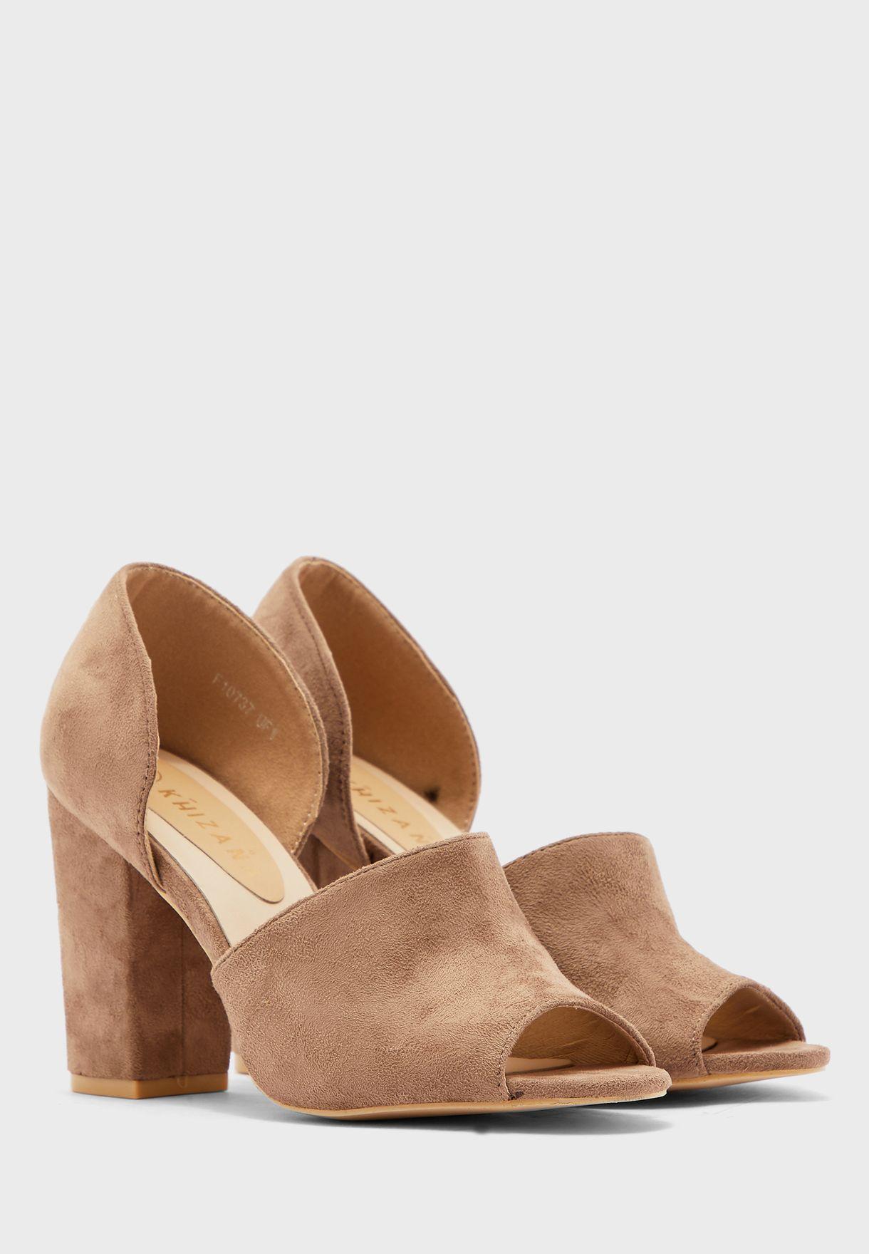 Peeptoe Chunky Block Heels
