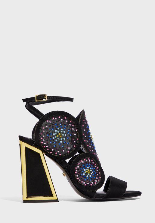 Frida Ankle Strap Peep Toe Sandal