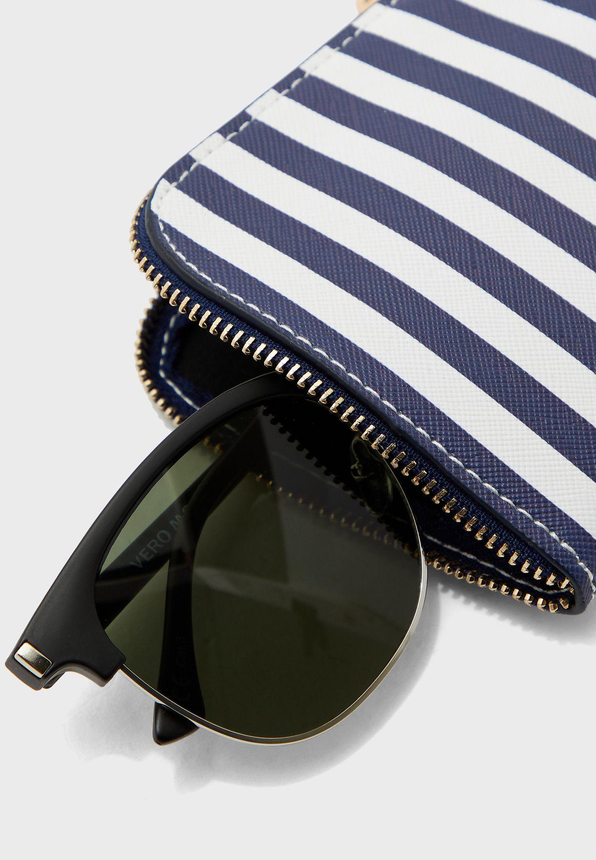 حافظة نظارة شمسية مخططة