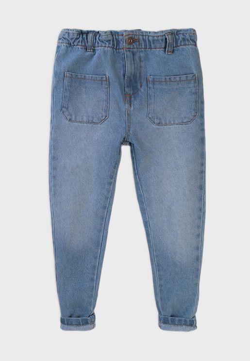 Infant Paperbag Waist Denim Jeans