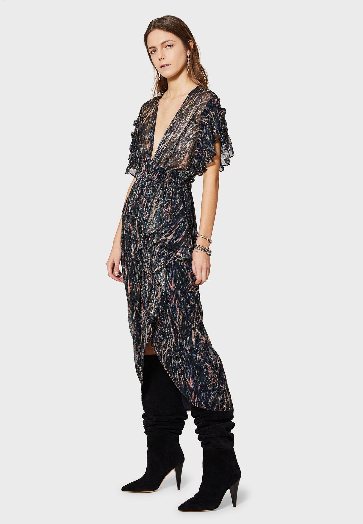 فستان لف بطبعات