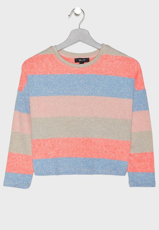 Teen Striped Sweatshirt