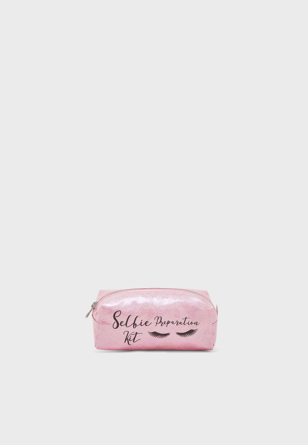 Selfie Preparation  Cosmetic Bag