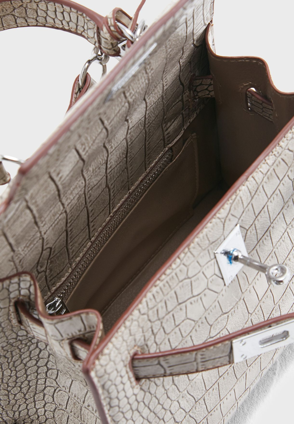 Mini Mock Croc Satchel