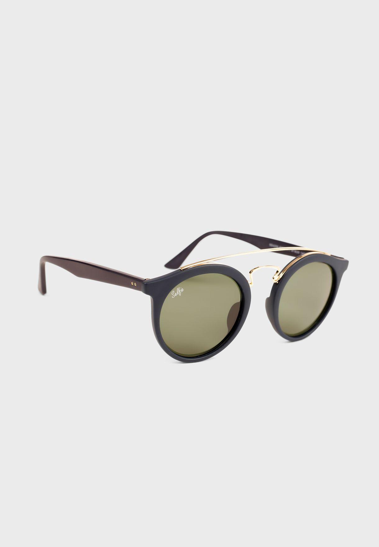 Acetate Matt Round Sunglasses