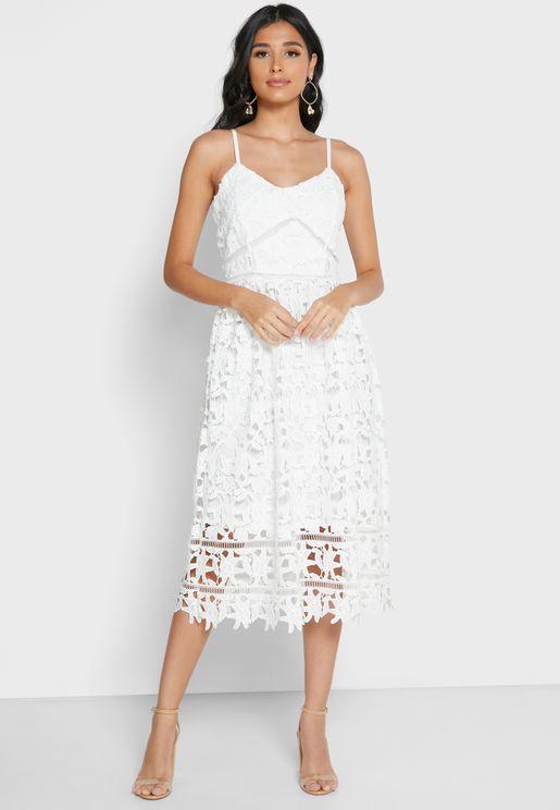 Cami Strap Lace Dress