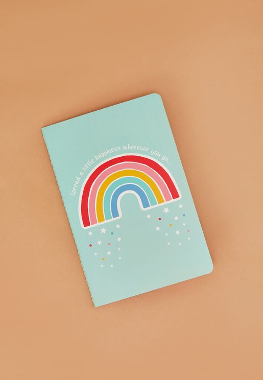 Rainbow Spread Happiness A5 Notebook