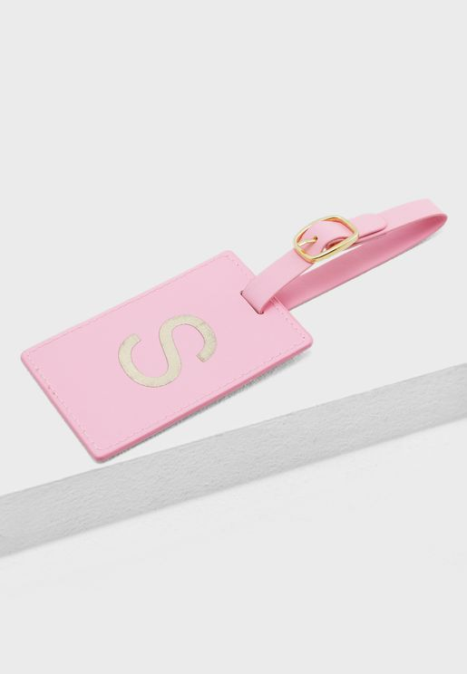S Monogram Luggage Tag