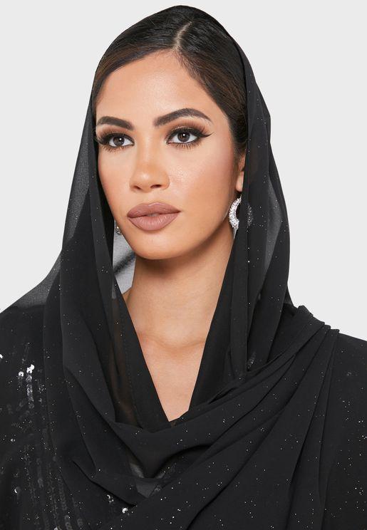 Sparkle Shimmer Chiffon Hijab Headscarf
