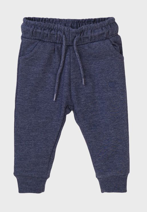 Kids Basic Embroidered Sweatpants