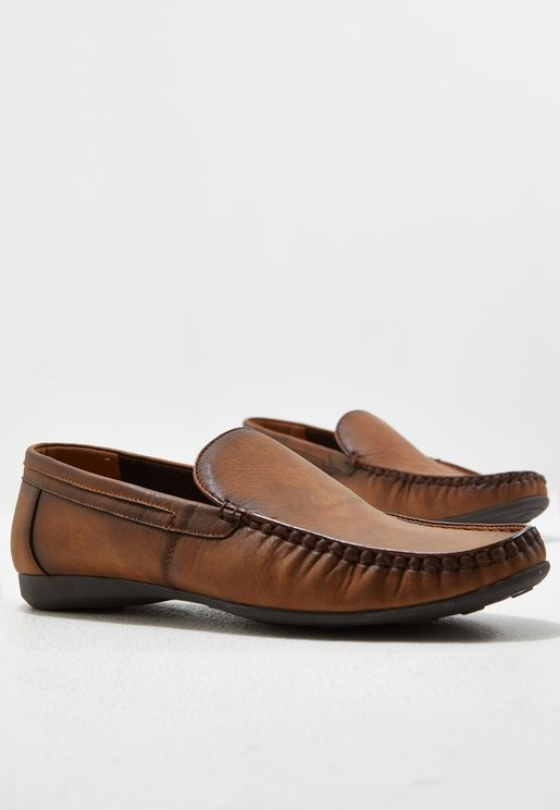 Faux Leather Driver Moccasins