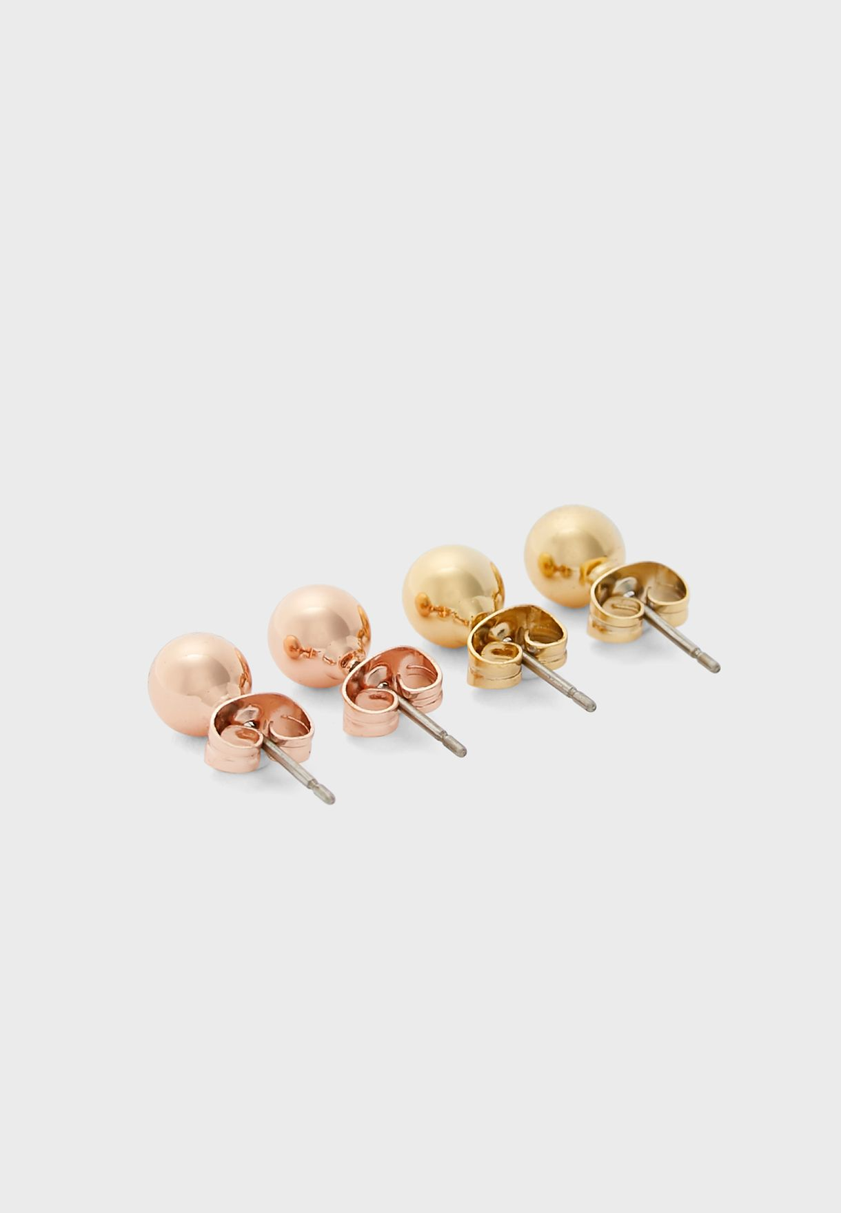 Polished Ball Trio Earring