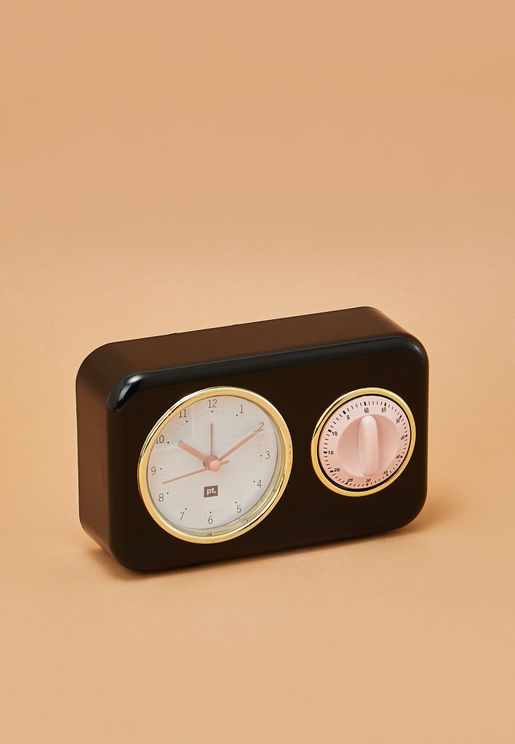 Clock With Kitchen Nostalgia Timer