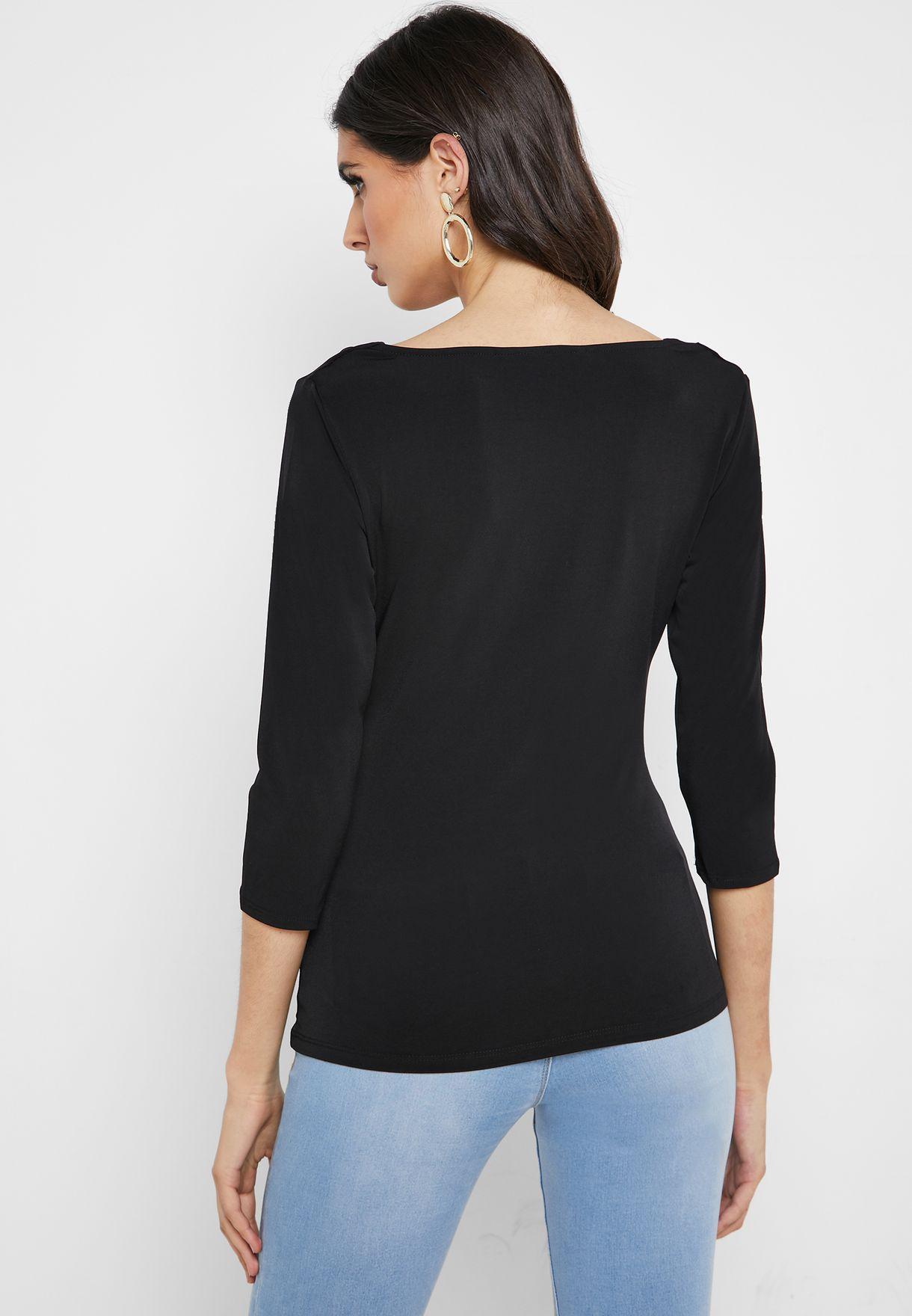Cowl Neck T-Shirt