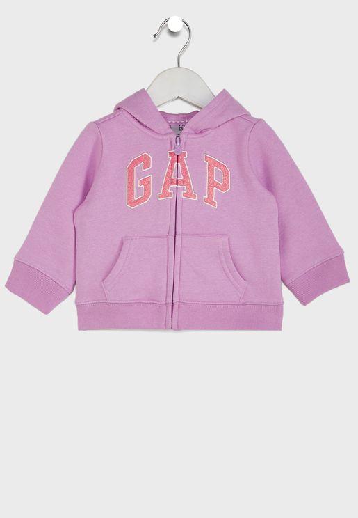 Infant Logo Zip Thru Hoodie