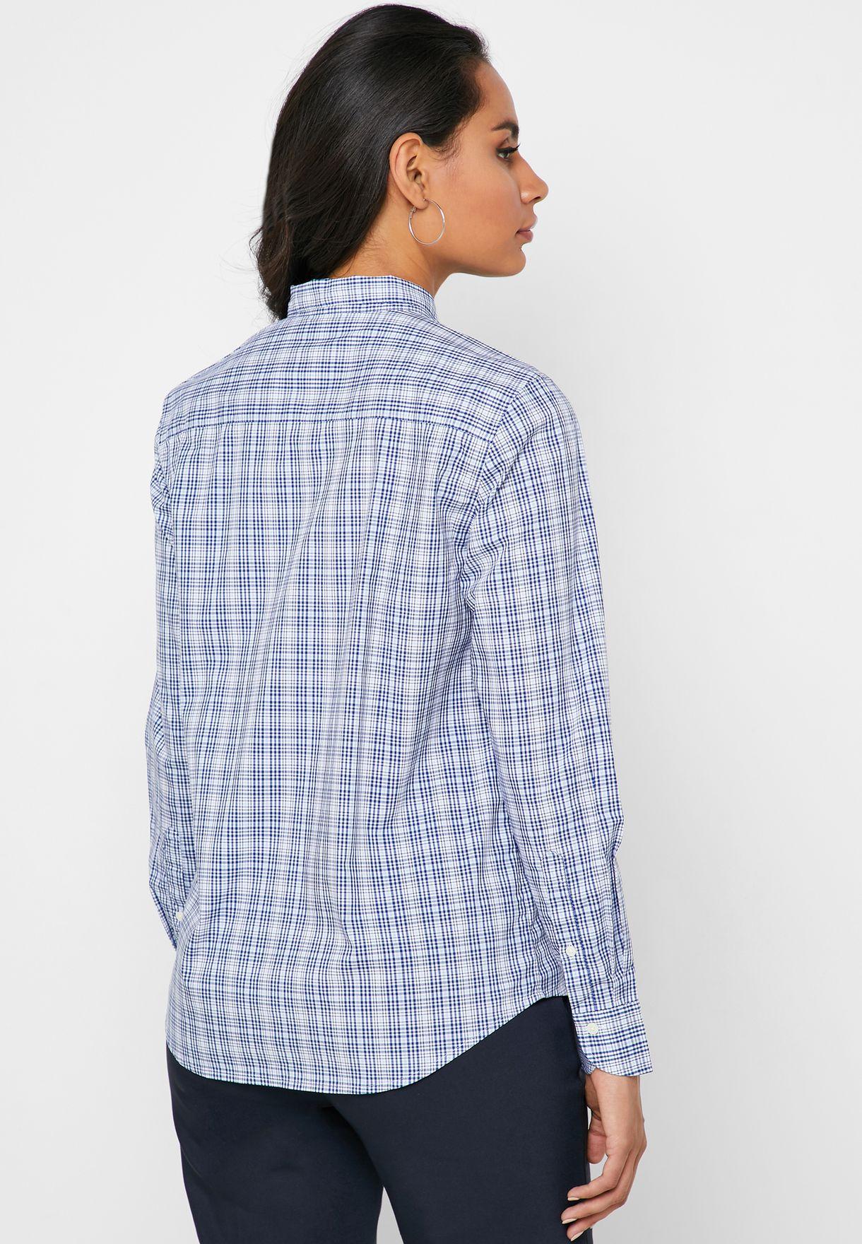 قميص مطبع باربطة ياقة