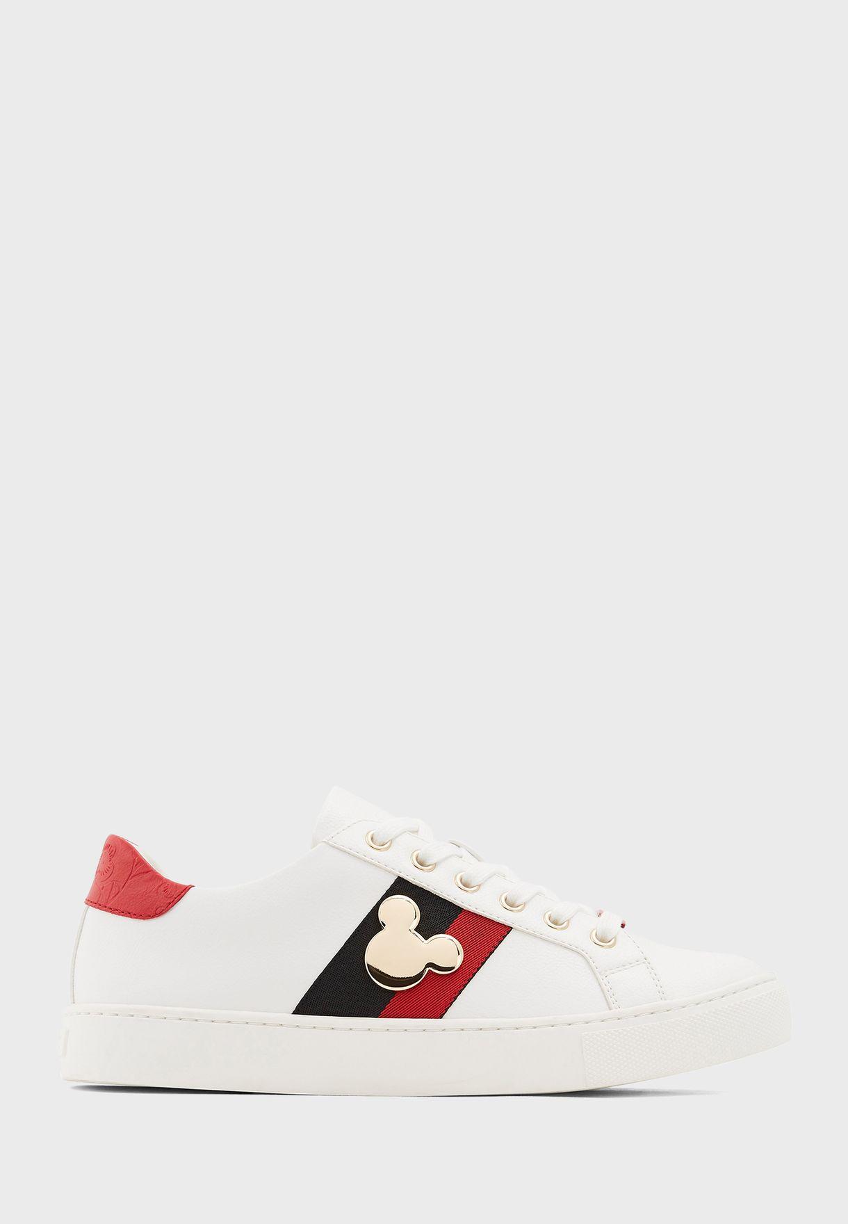 Mickey Low Top Sneaker - White