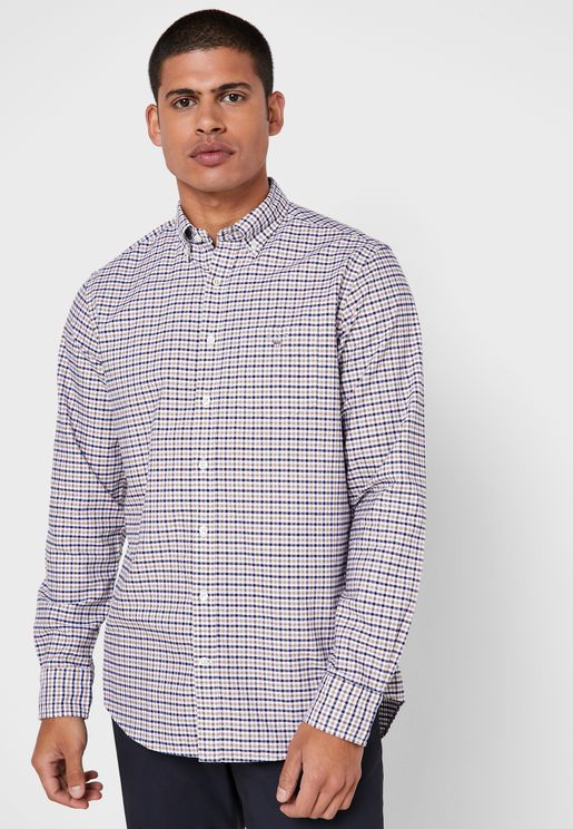 قميص اسكفورد بطبعة مربعات