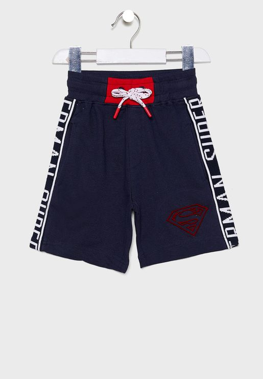 Kids Superman Logo Sweat Shorts