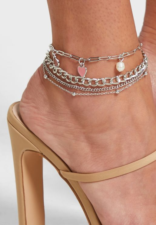 Layered Charm Anklet