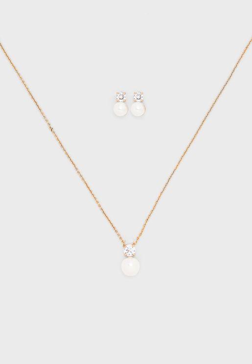 Rorewia Necklace+Earrings Set
